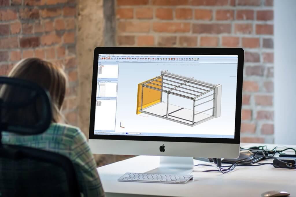 3D Modell Mockup Engineering und Planung Schlosserei Schad