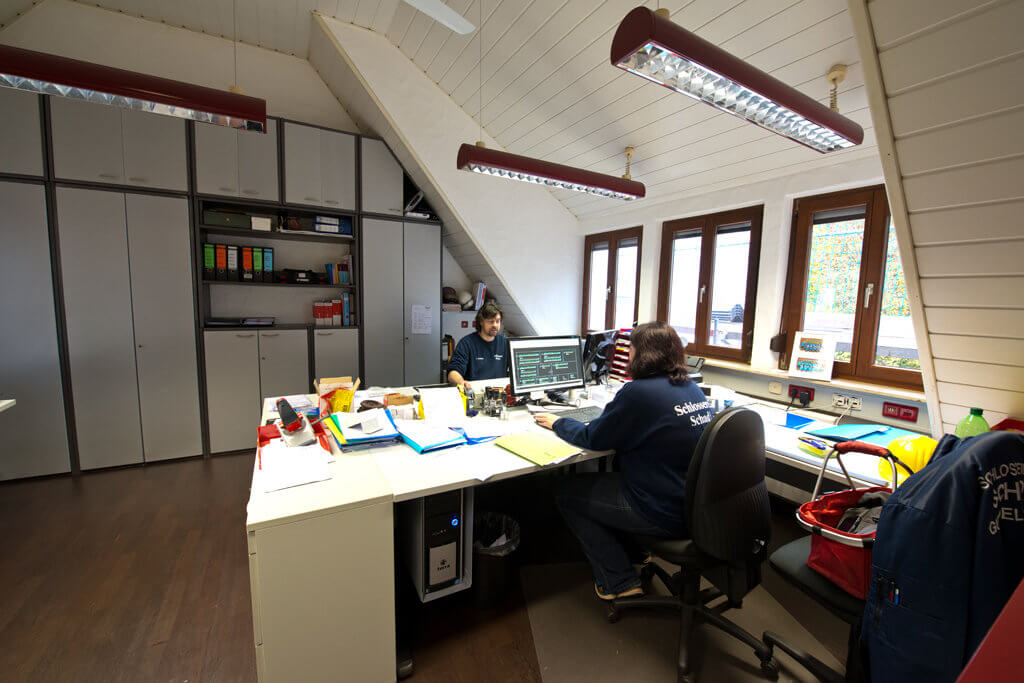 Zeichenbüro der Schlosserei Schad GmbH für die Planung